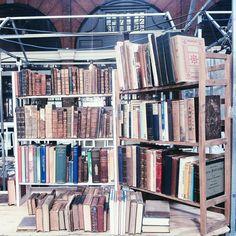 Vintage books at Spitalfields market, Shoreditch, London