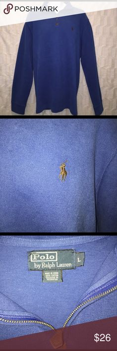 Polo Ralph Lauren Men's Pullover This pullover has been worn but is in excellent condition. It is a size Large and a light blue with brown pony. It is perfect for work or everyday wear. Polo by Ralph Lauren Shirts Sweatshirts & Hoodies
