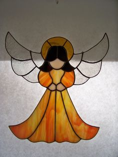 Grace Stained Glass Angel by wistfulfancy on Etsy, $45.00