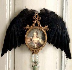 Black Accents, Boudoir, Antiques, Vintage, Decor, Antiquities, Powder Room, Antique, Decoration
