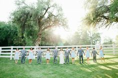 blue and gray wedding