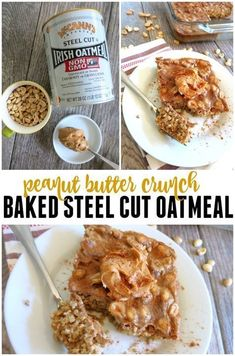 Peanut Butter Baked Steel Cut Oatmeal: An easy prep-ahead breakfast to make on Sundays! Reheat and enjoy throughout the week! Peanut Butter Baked Steel Cut Oatmeal: An easy prep-ahead breakfast to make on Sundays! Reheat and enjoy throughout the week! Clean Dinner Recipes, Clean Eating Dinner, Delicious Breakfast Recipes, Good Healthy Recipes, Clean Eating Recipes, Real Food Recipes, Healthy Eating, Healthy Foods, Yummy Recipes