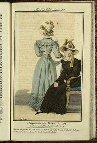 Petit Courrier des Dames : annonces des modes, des nouveautés et des arts del 25 de Junio de 1822_figurines