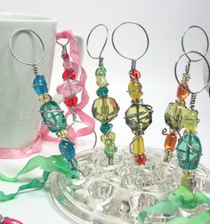 Beaded bubble wands for parties from the Frugal Crafter - SO cute! So easy - love it!