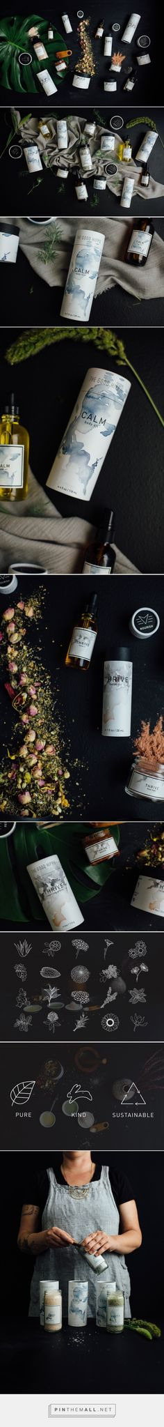 The Good Hippie: Artisan Skincare + Beauty - Packaging of the World - Creative… Skincare Packaging, Cosmetic Packaging, Beauty Packaging, Hippie Party, Label Design, Branding Design, Package Design, Graphic Design, Types Of Packaging
