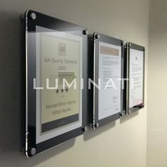 Acrylic Wall Frames glass effect acrylic frame for wall mounting supplied with