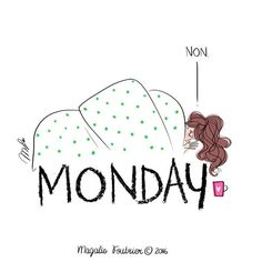 Book de l'illustratrice Magalie Foutrier Portfolio : Monday Morning Quotes, Monday Quotes, Buch Design, Monday Humor, Mood, Illustration Girl, Fashion Sketches, Cute Drawings, Cute Pictures