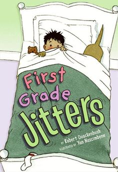 "Besides First Day Jitters, there's also a book called First Grade Jitters by Robert Quackenbush. Use as the story time book for the first day. Serve ""Jitter Juice"" after the reading. First Grade Books, Teaching First Grade, First Grade Reading, First Grade Classroom, Student Teaching, 1st Day Of School, Beginning Of The School Year, Back To School, School Stuff"
