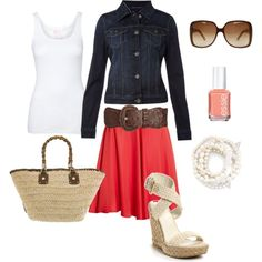 Summer time, created by #bstowe87 on #polyvore. #fashion #style Red Herring Tommy Hilfiger