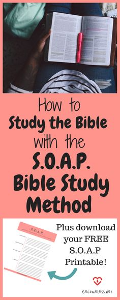 SOAP Bible Study Method + Free Printable and an Example from Acts | How to Study the Bible | Bible Study