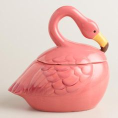 Ceramic Flamingo Cookie Jar | World Market
