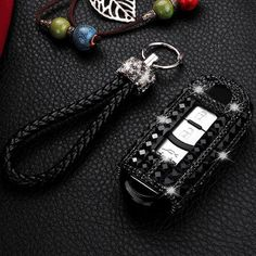 Bearfire Leather Car Key Case Remote Control package Auto Key Chains fit lexus accessory