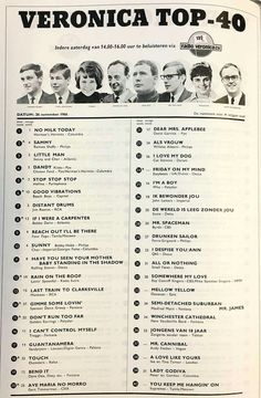 Top 4 van precies 50 jaar geleden Music Hits, 70s Music, Verona, Paperback Writer, Famous Musicians, Rock N Roll Music, Karaoke Songs, All About Music, Song List