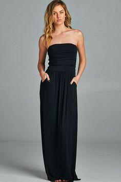 Pocket Maxi Dress (2 colors available)