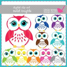 owl clip art personal use $5