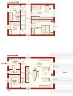 Grundrisse - 110 - Primo - Unsere Häuser im Überblick. Finden Sie den Haustyp der zu Ihnen passt. - Fertighäuser - Fertighaus von WOLF Haus Deutschland, Fertighaus, Hausbau, Energiesparhaus, Fertighaushersteller
