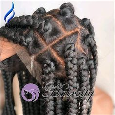 All styles of box braids to sublimate her hair afro On long box braids, everything is allowed! For fans of all kinds of buns, Afro braids in XXL bun bun work as well as the low glamorous bun Zoe Kravitz. Box Braid Wig, Jumbo Box Braids, Braids Wig, Box Braids Hairstyles, Try On Hairstyles, Hairdos, Wig Styles, Braid Styles, Weave Styles