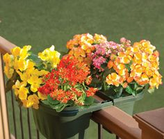 Outdoor Deck Railing Planters