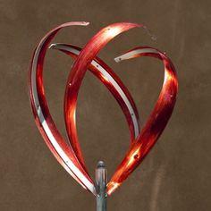 IRIS BUD - RED - Mark White, wind sculpture