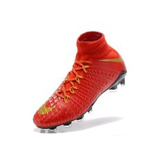 45718dd666 Best 2017 Nike Hypervenom Phantom III DF FG Red Gold Football Boots