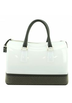 Furla Boxbag Nappa Candy Black and White