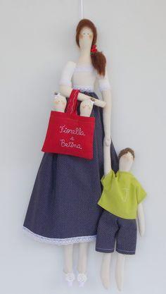 porta de maternidade mãe de gêmeos | Flor de Tule | Elo7