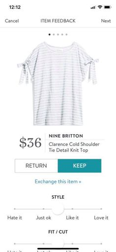 Nine Britton Clarence Cold Shoulder Tie Detail Knit Top Stitch Fix Spring 2018