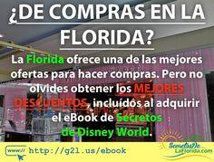 Si vas de vacaciones a la #Florida no olvides los #Cupones de descuento que están disponibles con los #eBooks de Secretos de la Florida. Valorados en más de USD $1500 podrás ahorrar mucho dinero en las compras en Malls Parques Temáticos y Restuarantes entre otros ==> http://g2l.us/ebook