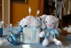 Winter baby shower party! See more party planning ideas at CatchMyParty.com!
