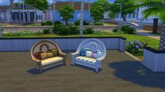 The Sims 4 | SP05 Movie Hangout Stuff Island Loving Love Seat Recolors by blueshreveport | buy mode seating
