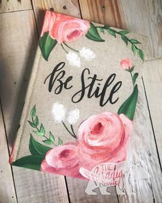 Custom Hand-Painted Bible – The Paradigm Exchange Scripture Art, Bible Art, Painted Books, Hand Painted, Bible Covers, Christian Art, Kawaii, Hand Lettering, Crafts