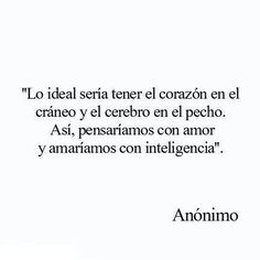Lo ideal....