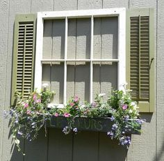 Faux Garden Shed Window made from Upcycled Parts! Maybe we could do this on the outside, when we close in the window on the guest cabin?