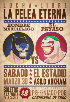 Drawing Comics Lucha Libre - Hombre Murcielago Vs El Payaso - product images - A leather winged hero and a vile villain locked in their eternal battle! We present to you our homage to vintage luchador poster! Character Drawing, Comic Character, Collages, Comic Art, Comic Books, Catch, List Of Characters, Otaku, Fanart