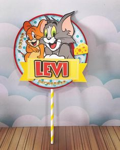 Personalized Tom and Jerry Theme Cake Topper | Etsy Tom And Jerry Cake, Masha And The Bear, My Son Birthday, Bear Party, Themed Cakes, Beautiful Cakes, Dragon Ball Z, Cake Toppers, To My Daughter