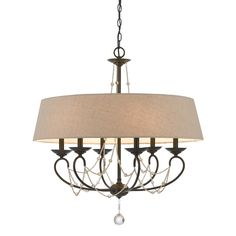 Cal Lighting FX-3532/6 Dawson 6 Light Chandelier at ATG Stores  $437
