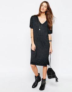 Image 1 ofASOS Casual Burnout T-shirt Dress