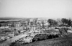 Lebreton Flats after the Great Fire of Ottawa, Ontario. Canadian Forest, Ottawa Valley, Capital Of Canada, The Great Fire, Canadian History, Paris Skyline, City Photo, Flats, Ottawa Ontario