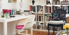 Tori Mellott: A Houseful of Style in 200 Square Feet - clever ideas like using loft area as walk-in storage and an open style bookcase to create a bedroom by the window while still letting light into the rest of the home