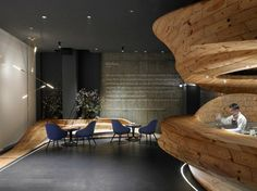 The architecture firm WEIJENBERG have worked together with Chef André Chiang to create the RAW, a modern restaurant in Taipei, Taiwan. The project to design a Raw Restaurant, Restaurant Design, Halls, Wood Centerpieces, Cabinet D Architecture, Wooden Decor, Wooden Bar, Design Studio, Design Furniture