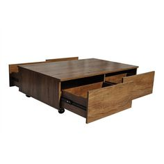 The Isabella Oak Rectangle Coffee Table from Citron Life offers sleek sophistication for a modern feature in your living space.