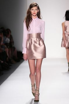 Marissa Webb RTW Spring 2014. Feminine and cute! Like the slightly messy hair w/ prim and proper clothes.
