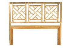 Bamboo Chippendale Headboard, Twin on OneKingsLane.com