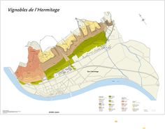 Maps of Northern Rhône AOCs with Soil types. Types Of Soil, St Joseph, Wonders Of The World, Maps, Infographics, Travel, Wine, France, Saint Joseph