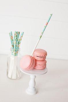 Floral Treat Sticks by ThePaperedNest on Etsy