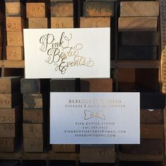 gold lettering by love letters studio