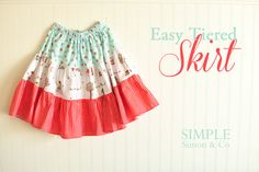Simple Simon and Company: Easy Tiered Skirt. A Tutorial.