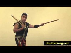 Kali Sticks Video: Filipino Fighting Arts Master Julius Melegrito Demonstrates Sinawali Basics - YouTube