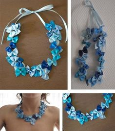 The pasta necklace by CocciMel Création! Diy Mother's Day Crafts, Mothers Day Crafts, Projects For Kids, Crafts For Kids, Arts And Crafts, Pasta Crafts, Photo Album Scrapbooking, Happy Mother S Day, Bracelet Tutorial
