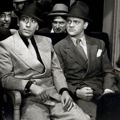 """George Raft and James Cagney. Probably from """"Each Dawn I Die""""."""